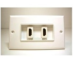 HDMI Dual Port  Wall Plate with 4 inches extension cable